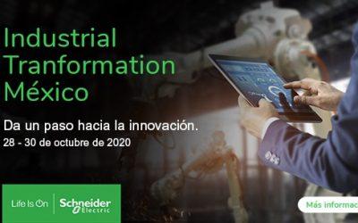 Schneider Electric presentará en ITM 2020 cómo incrementar la eficiencia y productividad.