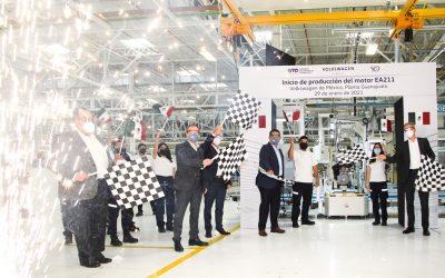 Inicia VW Silao producción de motor vanguardista en Puerto Interior.