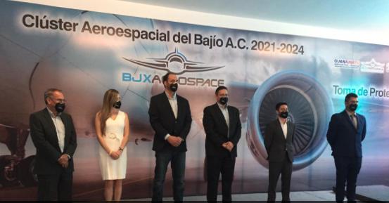 Toma de protesta del Clúster Aeroespacial del Bajío A.C (BJX Aerospace) para el periodo 2021-2024 en el estado de Guanajuato.