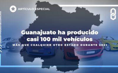 Guanajuato ha producido casi 100 mil vehículos más que cualquier otro estado durante 2021.